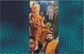 World Champion Gaurav Sharma Visits At The Darbar Of  Lalbagh Ke Raja For Blessings