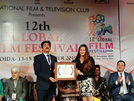 Actress Samikssha Batnagar Bags Best Actress Award At 12th Global Film Festival Noida